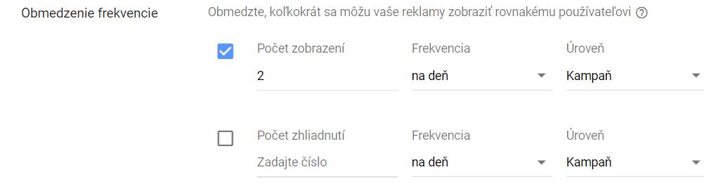 Youtube - nastavenie frekvencie