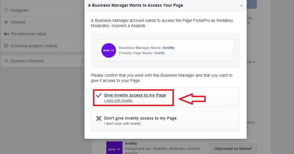 5. krok - FB reklamný účet