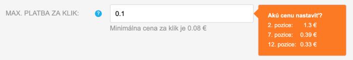 Heureka - Našepkávač výšky ceny za reklamu
