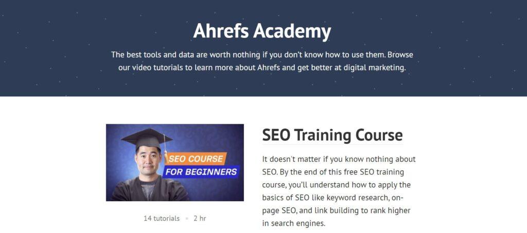 ahrefs academy kurzy